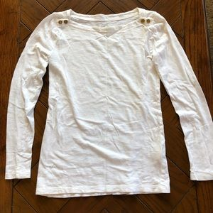 J. Crew white painter tee
